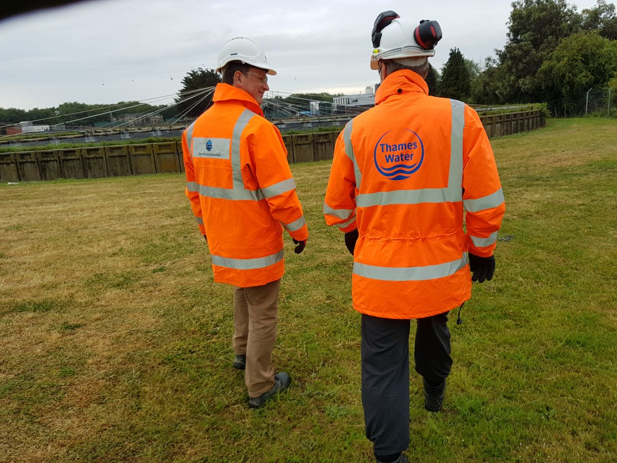 Ed Newman, Geo-Environmental Head of Rail Road and Utilities, undertaking the initial site walkover on the Thames Water site