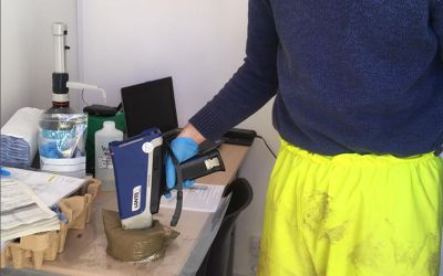 Shoreham testing samples for metals contamination using XRF (X-Ray Fluorescence)